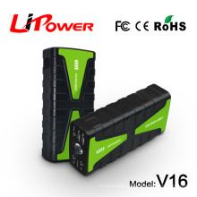 Батареи питания Многофункциональный портативный мини-пускатель с 12-вольтовым воздушным компрессором