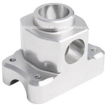 Pieza de torneado del torno del CNC del aluminio 6061 de la oxidación anódica de plata