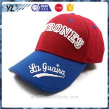 Bordado de diseño de lana / gorra de béisbol de acrílico