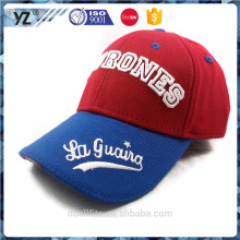 embroidery design wool/acrylic fitted baseball cap