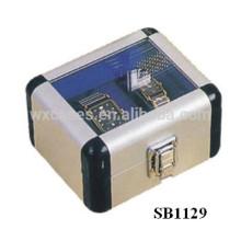 cajas de reloj de aluminio por mayor para 2 relojes