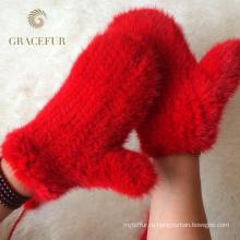 Изысканный реального защитные перчатки меховые