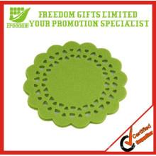 Esteira de copo de papel de tecido personalizada promocional de estilo nova