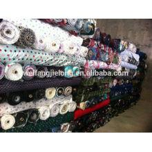 100% coton 20 * 10 42 * 40 tissu de flanelle imprimé en stock