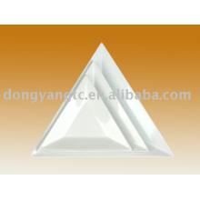 Placa triangular de porcelana