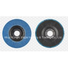4 '' discos abrasivos de la aleta del óxido de alúmina de Zirconia cubierta de cristal de fibra 22 * 13m m