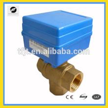 3 Wege CWX-1.0B DN15 DC12V T-Typ CR01 Messing CR01 elektrische Wasserventil Durchflussregelung