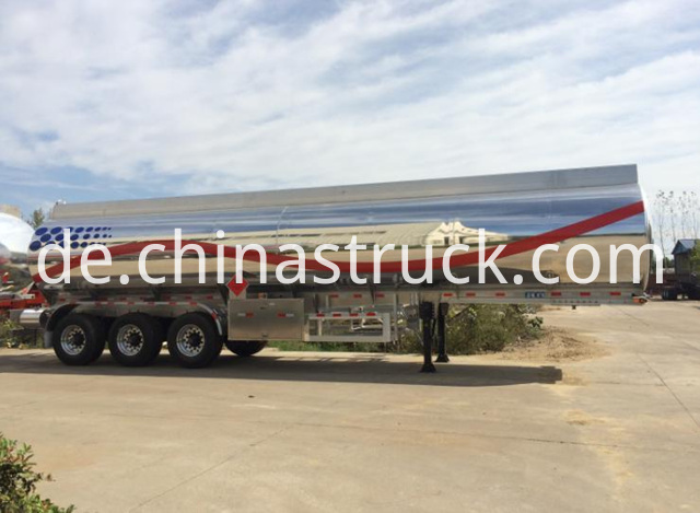 3 Axles Aluminium Fuel Tanker Trailer