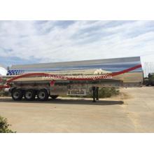 Shiny Aluminium Alloy Jet oil Tanker Semi Trailer