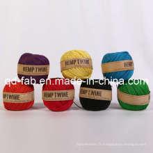 Ficelle de chanvre colorée teinte pour l'artisanat (HT-1mm)