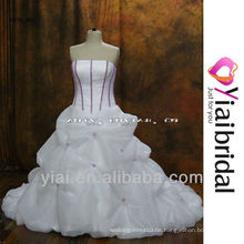 RSW360 lila und weiße Brautkleider