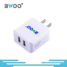 Portable Us Plug Dual USB Charger para teléfono móvil