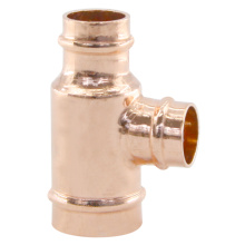 Pre-solder Reducing Copper Tee Fittings