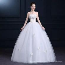 LSO013 Meia manga shanghai vestido de vestido frisado longo com cinto arco lace até mangas de renda para adicionar ao vestido de noiva