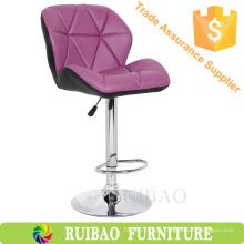 Mobiliário de bar comercial Popular colorido ajustável PU couro Bar Type cadeiras