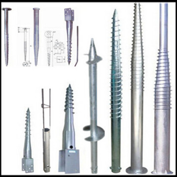 Hot dipped galvanized screw pole anchor
