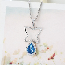 Xuping Elegant Rhodium Imitation Heart-Shaped CZ Zircon Jewelry Pendant Necklace 88-1204