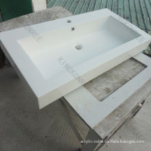 Popular White Solid Surface Bathroom Wash Basins Bathroom Basin, Kitchen Sink With Customised