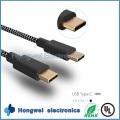 USB3.1 Typ C bis C Nylongewebe Geflochtenes Ladegerät und Daten Sync USB Kabel