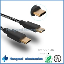 USB3.1 Type C to C Nylon Fabrics Braided Charger and Data Sync USB Cable