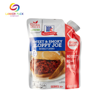 Mulit-layer Stand Up Sauce Packaging Pouch Dengan Spout