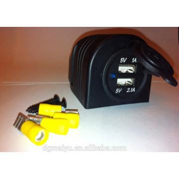 Двойные порты морской автобус автомобиль мотоцикл USB зарядное устройство