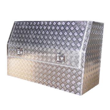 caixas de ferramentas de placa de verificador de alumínio barato
