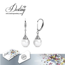 Destiny Jewellery Crystals From Swarovski Loop Pearl Earrings