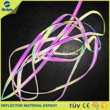High Visibility Gute Qualität Silber Elastische Reflektierende Baumwolle Paspel für Taschen