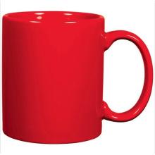 Caneca cerâmica do vermelho do café