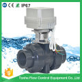 Dn40 1.5 Inch PVC UPVC Plastic Electric Motorized Ball Valve