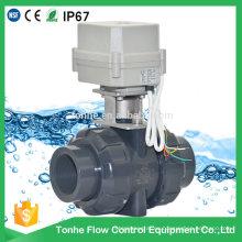 Dn40 Válvula de bola motorizada eléctrica plástica del PVC UPVC de 1.5 pulgadas
