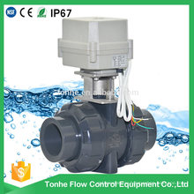 "Ce RoHS 1 1/2"" Inch Motorized PVC Electric Actuator Ball Valve High Quality"