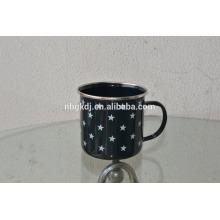 2015 wholesale new design colorful china printed mug/coffee enamel mug