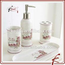 Venda quente cerâmica banheiro acessório conjunto 4