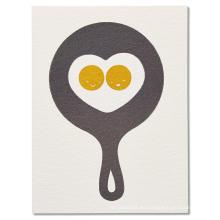El saludo de encargo le agradece cardar la tarjeta china simple simple de la invitación de la boda de los huevos fritos de la cacerola