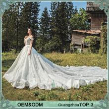 Nova coleção champange glory off shoulder vestido de noiva sexy com appliques de renda