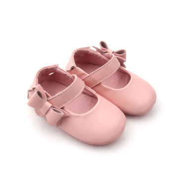 Venta al por mayor de Baby Princess Pink Christmas Dress Shoes