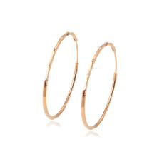 97346 xuping best selling high quality big circle rose gold color elegant ladies hoop earrings