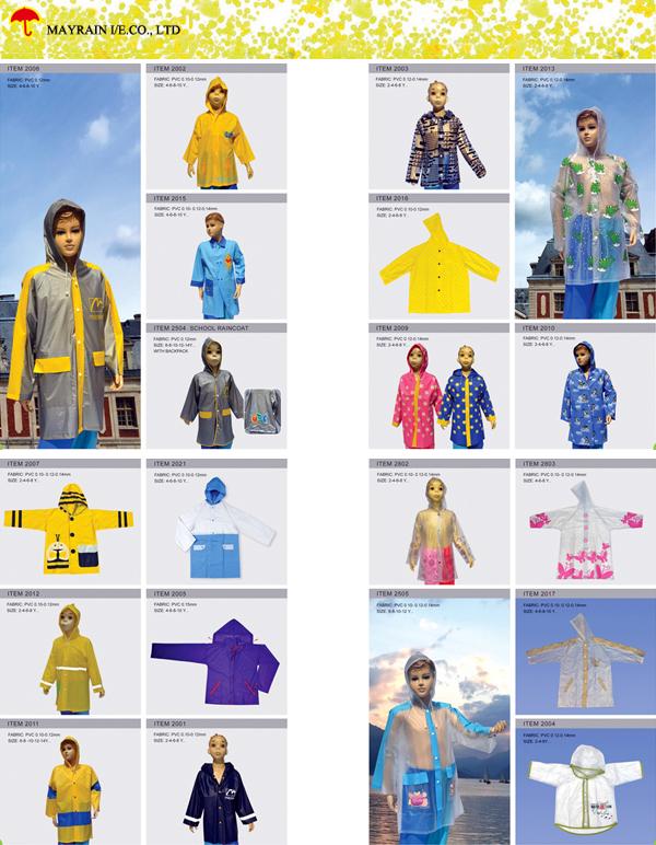 kid PVC Raincoat