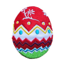 Happy Easter Egg Bow Flower Haftowana naszywka