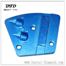 Aggressive PCD segment coating removal tools