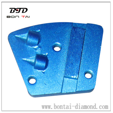 Aggressive PCD segment coating removal tools