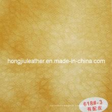 Dichromatic Thick Sipi Leather for Sofa (Hongjiu-618#)