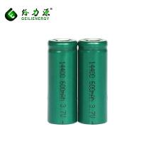 Großhandel wiederaufladbare 14400 lithium-ionen-batterie 3,7 v li-ion 600 mah lithium-batterie