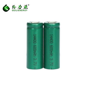 Venta al por mayor recargable 14400 batería de iones de litio 3.7 v li-ion 600 mah batería de litio