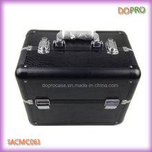 Black Crocodile PVC Leather Makeup Trunk Case (SACMC063)