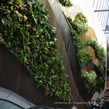 Chinese artificial vertical gardening synthetic green wall with foliage