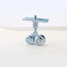 Ruedas de suspensión metálicas de puerta corredera para uso superior con cuatro rodillos