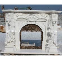 Cheminée en marbre gravé en forme de statue d'enfant (SY-MF210)